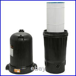 120 Square Foot In-Ground Pool & Spa Cartridge Filter Clean with Pressure Gauge