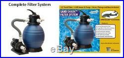 12 1500 GPH Sand Shark Pool Filter System. Replace intex flowclear bestway pump