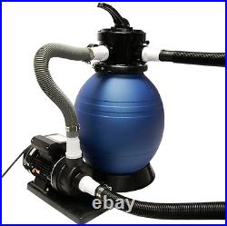 12 Above Ground Sand Filter System For Intex Pools with 1/2 HP Pump
