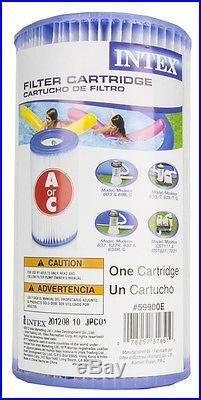 12 INTEX Type A Easy Set Pool Filter Cartridges 59900E
