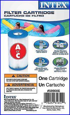 12 Pack Intex Pool Easy Set Filter Cartridge Type A C 59900E 530 1000 1200 1500
