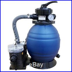 12 Sand Filter With 3/4 HP Self-Priming Pump Swimming Pool