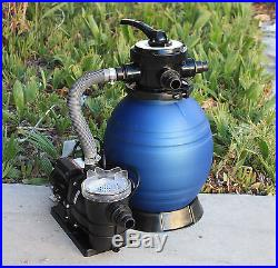 12 Sand Filter with3/4HP Pump 2400GPH Above Ground Swimming Pool Soft Side Intex