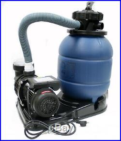 12 Sand Filter with 2880 GPH Water Pump for Intex Above Ground Swimming Pool