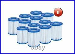 12 x Bestway 58094 Pool Filter Cartridge SIZE II for Swimming Pool PUMP TYPE 2