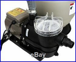 13 Sand Filter Self Prime Swimming Pool Pump Digital Timer 2640GPH Above Ground