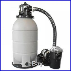 16 Above Ground Pool Sand Filter System with 1 HP Pump 125 lb Sand Capacity