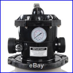 16 Above Inground Swimming Pool Sand Filter with Valve Fit 1/2HP 3/4HP Water Pump