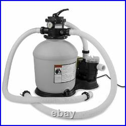 16 Sand Filter /w Multi Port Valve 3/4 hp Pool Pump /w Timer 15,000 GAL