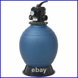 18 Above Ground Pool Sand Filter with 6 Position Valve 110lb For Intex Bestway