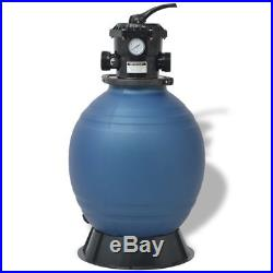2400 GPH Swimming Pool Sand Filter Master 18 Above Ground for Pool Pump of 1 HP