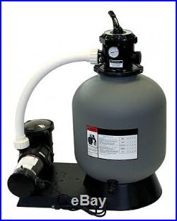 24 Inground Sand Filter System with 1 HP Pump 300 lb Sand Capacity