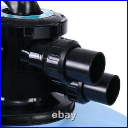 27 Inch Swimming Pool Sand Filter with 6-Way Valve For Above Ground Pool Pond
