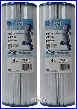 2 New Unicel 4CH-949 Pool Spa Waterway Replacement Filter Cartridges 50 Sq Ft