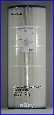 2 Pk Hayward StarClear Plus C1200 CX1200-RE Filter Cartridge C-8412 FC1293 PA120