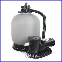 4500GPH 19 Sand Filter 1HP Above Ground Swimming Pool Pump Filtration NEW