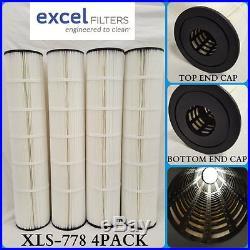 4PACK Hayward CX1280XRE XLS778 Filter Cartridge fits PA131 UNICEL C-7494 FC1227