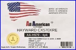 4X Hayward CX570XRE Pleatco PA75SV Unicel C-7477 Swimming Pool Filter Cartridges