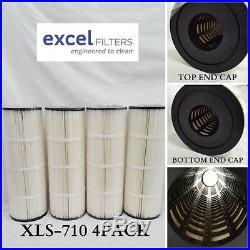 4 Hayward C3025 CX580RE XLS710 Filter Cartridge PLEATCO PA81-PAK4 C-7483 FC-1225