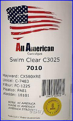 4 PACK Hayward CX580XRE Swim Clear C-3025 Unicel C-7483 Pleatco PA81 Cartridge