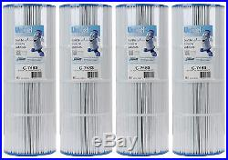 4 Unicel C-7483 Spa Replacement Filter Cartridges 81 Sq Ft Hayward Swim Clear
