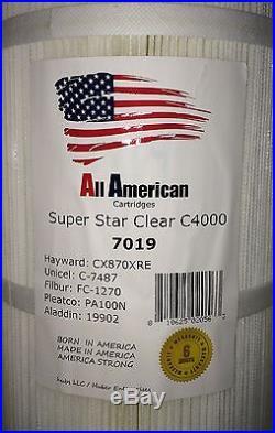 4 X Hayward CX870XRE Super Star Clear C4000 Aladdin19902 PA100N Filter Cartridge
