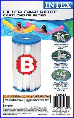 6 Pack Genuine Intex Pool Easy Set Filter Cartridge Type B 29005E 2500 2000