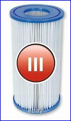 6 x Bestway 58012 Pool Filter Cartridge SIZE III for Swimming Pool PUMP TYPE 3