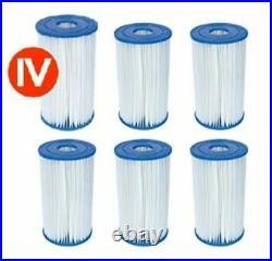 6 x Bestway 58095 Pool Filter Cartridge SIZE IV for Swimming Pool PUMP TYPE 4