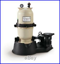 75 Sq Ft Clean & Clear Cartridge Filter System For Aboveground Swimming Pool