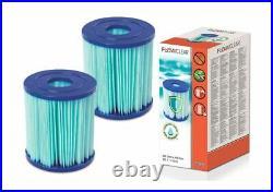 ANTIBACTERIAL 2 x Bestway 58510 Filter Cartridge SIZE I for Pool PUMP TYPE 1