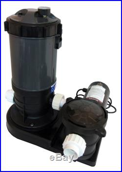 Above-Ground Swimming Pool Cartridge Filter System with 0.75 HP Pump