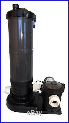 Above-Ground Swimming Pool Cartridge Filter System with 2 Speed Pump 1.5 HP
