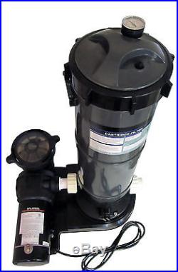 Above Ground Swimming Pool Cartridge Filter System With 2