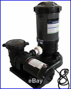 Above-Ground Swimming Pool Cartridge Filter System with 2 Speed Pump 1 HP