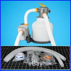 Above Ground Swimming Pool Flowclear Sand Filter System 2200 Gallon Pump 58500E