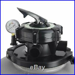 Above Ground Swimming Pool Pump 4500GPH 19 Sand Filter +1.5HP intex compatible