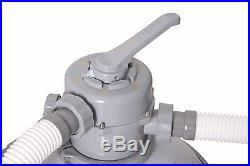 Bestway 1500 GPH Above Ground Swimming Pool Flowclear Sand Filter 58270US
