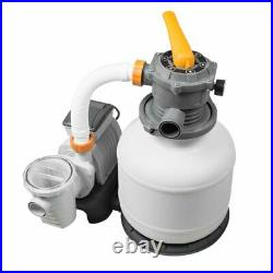 Bestway 2200Gal Sand Filter Pump for Above Ground Swimming Pool Powerful+Hoses
