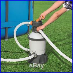 Bestway 58496E Flowclear 1000 GPH Silica & Sand Swimming Pool Filter Pump, Gray