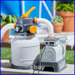 Bestway 58498E Durable Flowclear 1500 Gallon Sand Filter for Swimming Pools
