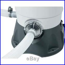 Bestway Flowclear 530 GPH Silica & Sand Pool Filter Pump, Gray (Open Box)