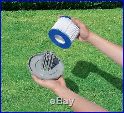 Bestway Spa Filter Pump Replacement Cartridge Type VI SaluSpa Hot Tub (12 Pack)