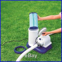 Bestway Type IV/B Pool Filter Cartridge (2 Pack) + Above Ground Pool Filter Pump