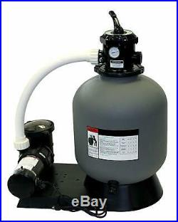 Blue Torrent Above Ground Swimming Pool Sand Filter System 16 with a 1 HP Pump