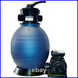 Blue Torrent Sand Shark 12in Above Ground Sand Filter System with 1-2 HP Pump