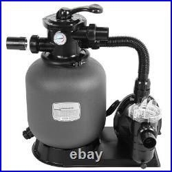 Clear Above Ground Swimming Pool Sand Filter System Water Pump Combination Set