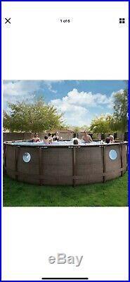 Coleman 18' x 48 Power Steel Swim Vista Series II Swimming Pool Set with window