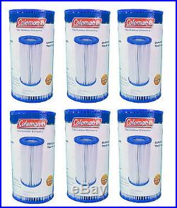 Coleman Type III A / C Swimming Pool Filter Pump Replacement Cartridge (6 Pack)