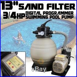 Digital Programming 13 Sand Filter 2640GPH Swimming Pool Pump Timer System